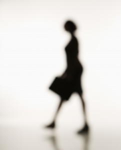 Businesswoman walking.