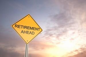Retirement Ahead - Road Warning Sign